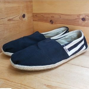 Toms Espadrilles 13 Classic Striped Slip On Shoes